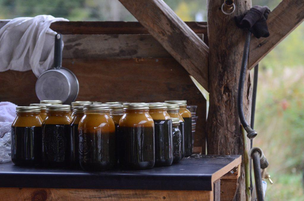 "The Norton Farm sorghum ""molasses."" Photo by Jen Nathan Orris."