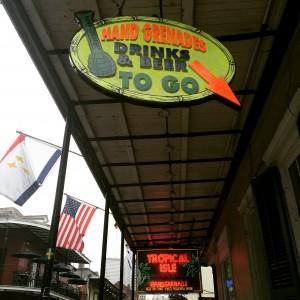 Tropical Isle signage, Bourbon Street.