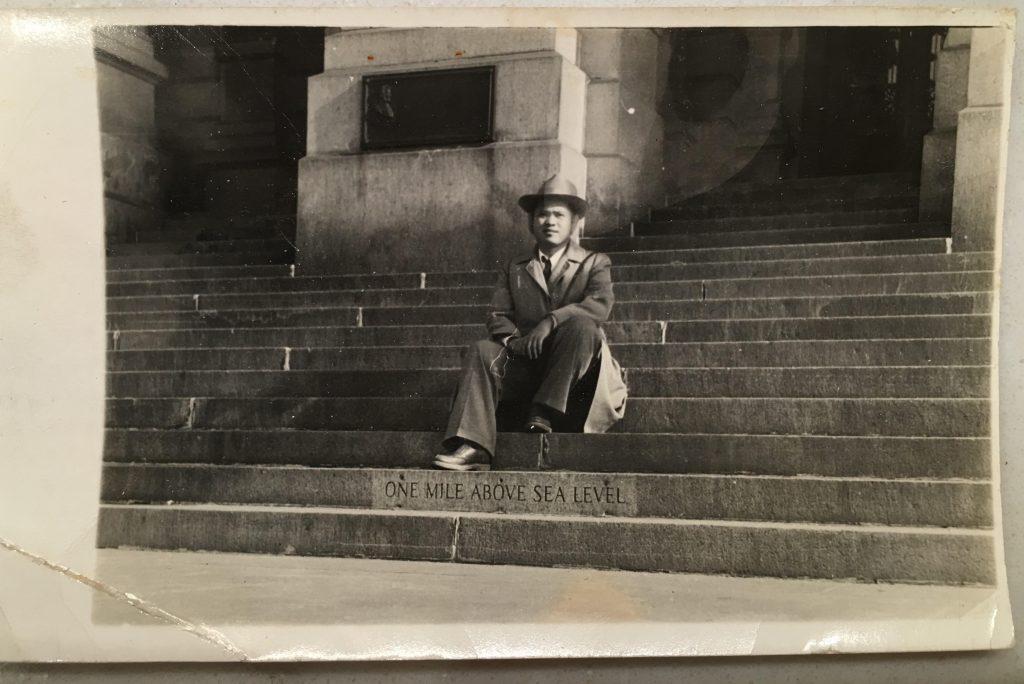 Alexis Diao's Lolo (grandfather) Gregorio Eleuterio Diao in the U.S.