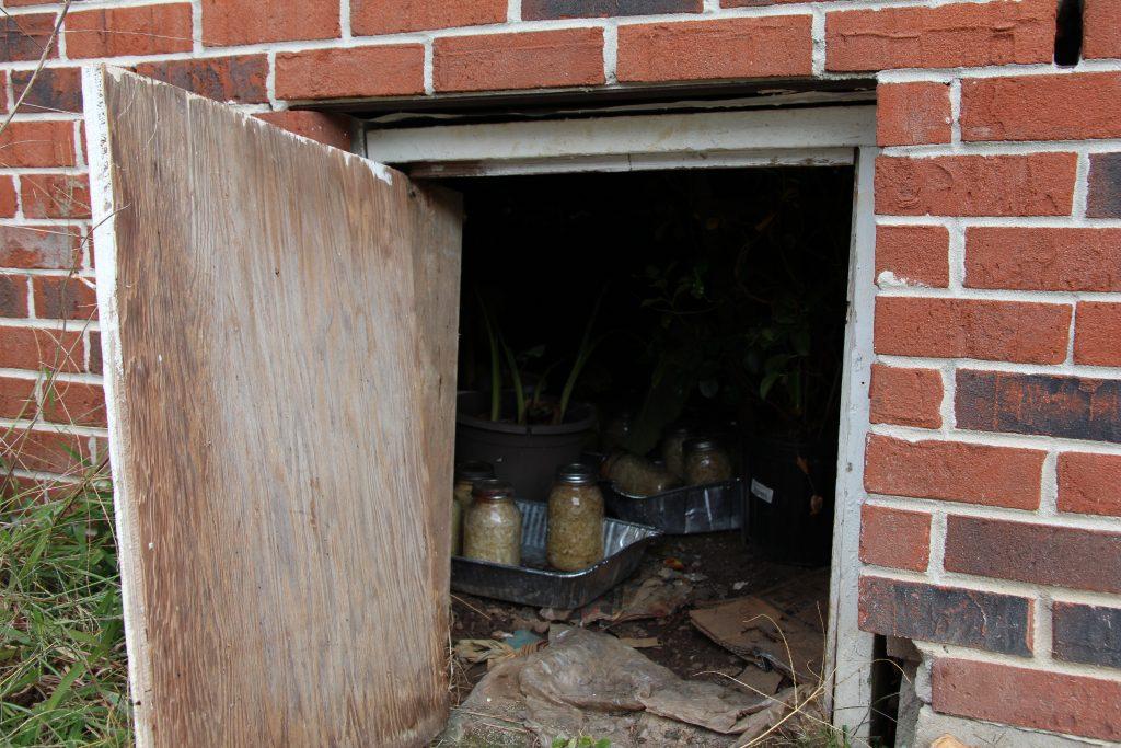 "Louise Frazier's not-so-secret storage ""place under the floor."""