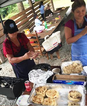 Cecilia Polanco, 2016 Smith Symposium Fellow, is making pupusas political. So Good Pupusas at the Carolina Food Summit. Photo by Katy Clune.