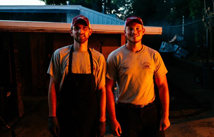 Ricky Parker's Sons Matt and Zach.